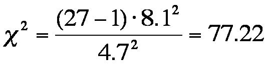 Abbildung 3: Berechnung der Teststatistik der Beispieldaten
