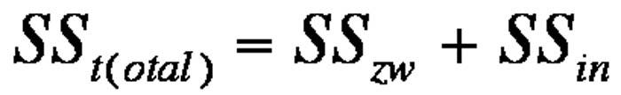 Abbildung 4: Berechnung der Gesamtstreuung