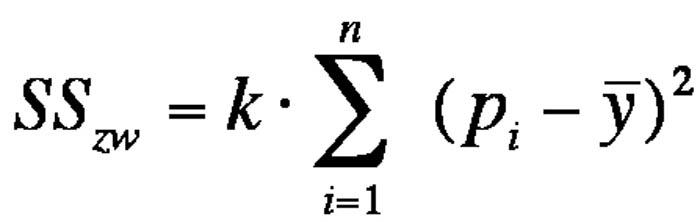 Abbildung 6: Gleichung der Streuung zwischen den Untersuchungseinheiten