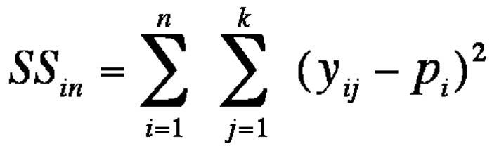 Abbildung 7: Gleichung der Streuung innerhalb von Untersuchungseinheiten