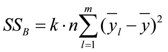 Abbildung 9: Gleichung der Streuung des zweiten Faktors