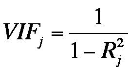 Abbildung 7: Varianzinflationsfaktor