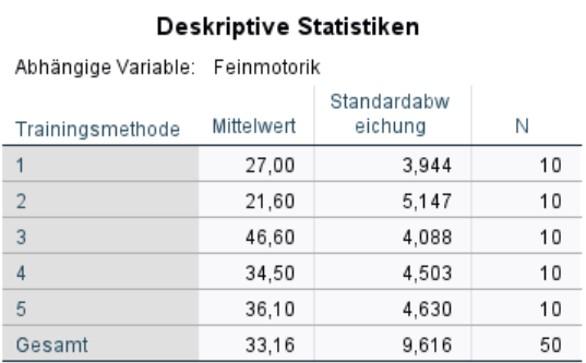 Abbildung 6: SPSS-Output – Deskriptive Statistiken