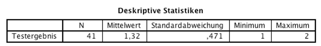 Abbildung 3: SPSS-Output – Deskriptive Statistiken