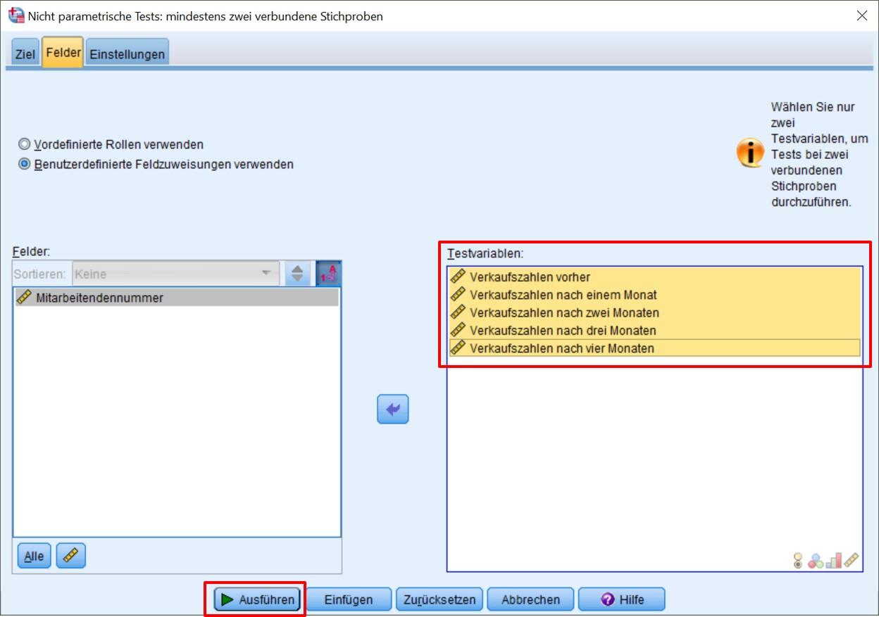 Abbildung 7: SPSS-Output – Erstellen von Post-hoc-Tests