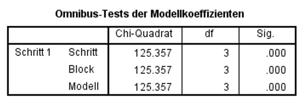 Abbildung 5: SPSS-Output – Verifizierung des Modells